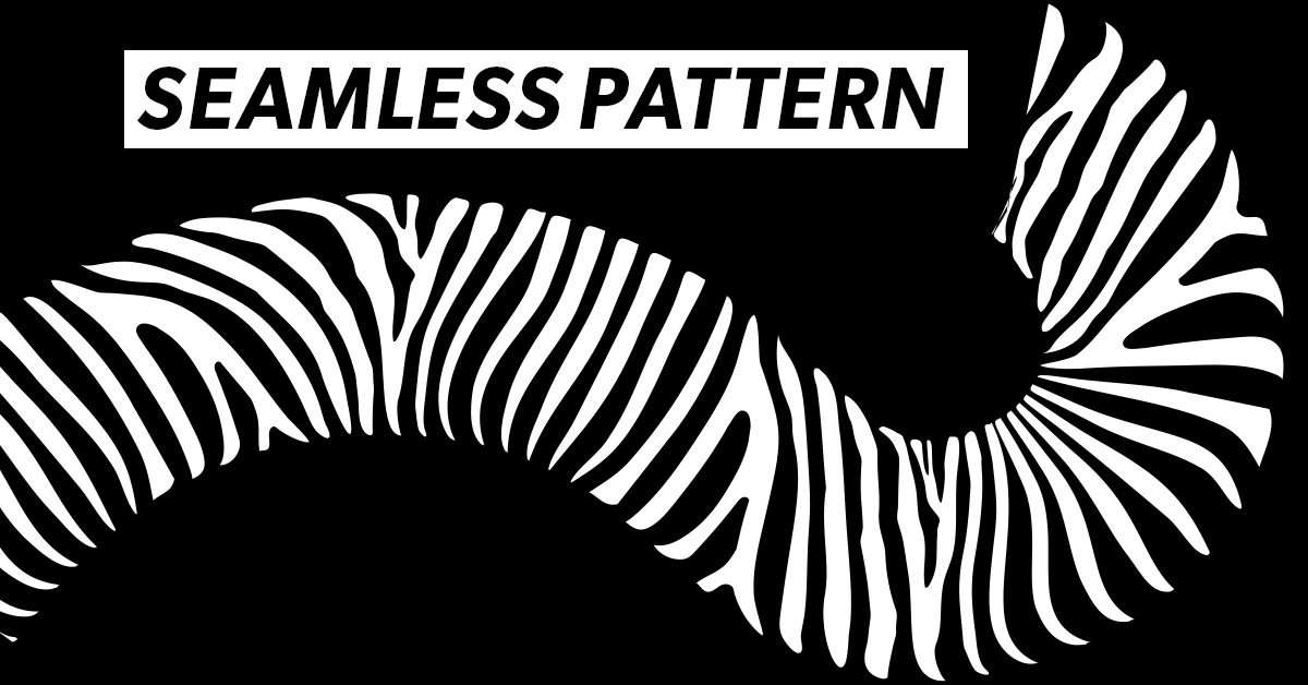seamless zebra pattern brush