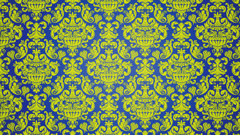 Full cassette punk damask wallpaper pattern